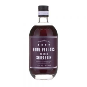 bloody shiraz gin from four pillars